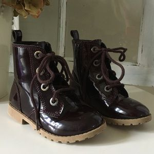 2for $30 Faux patent leather toddler boots 8